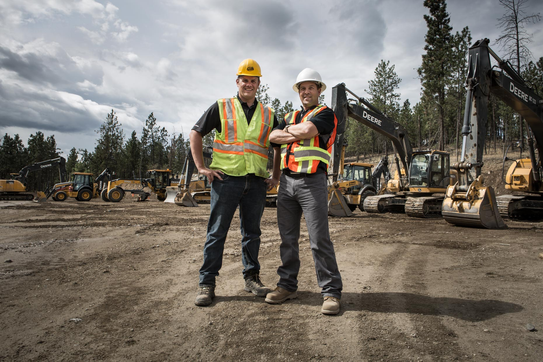 The owners of Interior Heavy Equipment Operator School, Daniel Collins & Mike Hansen, in Kelowna, British Columbia, Canada.